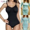 Женское корректирующее белье с v-образным вырезом, летние топы, тренажер для талии, боди, послеродовое Корректирующее белье для похудения