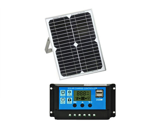 20W Solar Panel 18V With 10/20/30/40/50A Dual USB Solar Panel Controller Ect For Sliding/swing DC Gate Opener