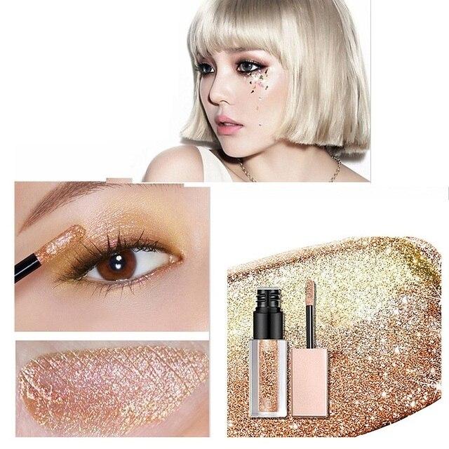 Hot 15 Colors Liquid Glitter Eyeshadow Pencil Shimmer Eyeshadow Waterproof Long-lasting Shimmer Eyeshadow Eye Makeup Accessories 1