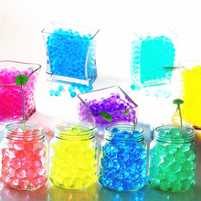 1000 шт цветные жемчужные гелевые шарики, полимерный гидрогель, Кристальные бусинки для почвы и воды, волшебное желе, свадебные, вечерние, для украшения дома 5Z