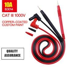 1 זוג 1000V 10A/20A מודד בדיקה דיגיטלית אוניברסלי מודד מבחן מוביל סיכת חוט עט כבל 80cm