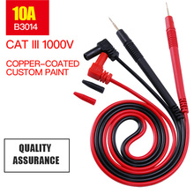 1 Paar 1000V 10A/20A Multimeter Probe Voor Universele Digitale Multimeter Meetsnoeren Pin Draad Pen Kabel 80cm