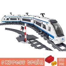 941 шт город скорый поезд автомобиль строительные блоки игрушки