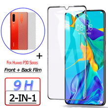 Front + Back Screen Protector for Huawei P30 Lite Pro Tempered Glass Film Rear Sticker
