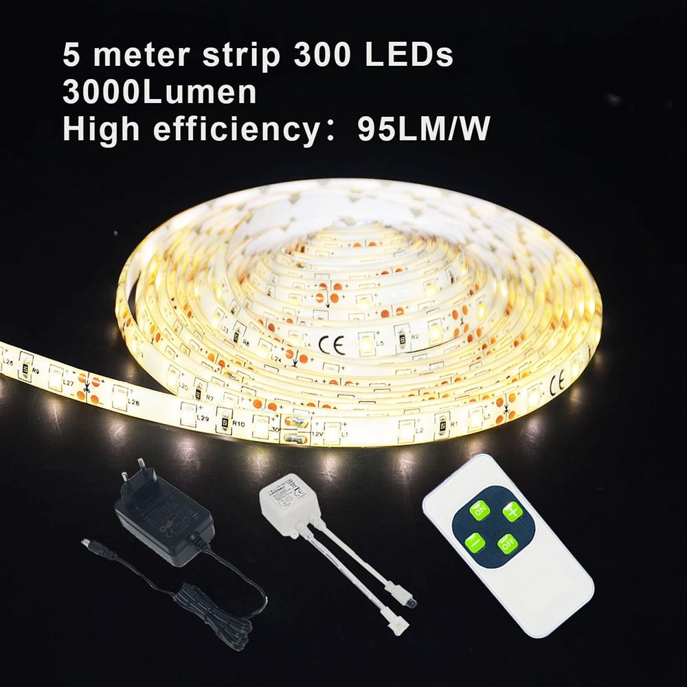 YOLUXZM LED Strip Light SMD 2835 Warm White 300leds Waterproof Dimmable LED Light Tape Ribbon 5m 10m 15m 20m 30m Flexible Lights