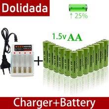 100% nova marca 3800mah 1.5v aa bateria alcalina aa bateria recarregável para controle remoto brinquedo batery fumaça alarme com carregador