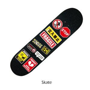 Image 5 - 50Pcs Warning Stickers Cool Waterproof Spoof Graffiti Skateboard Pad Car Laptop Snowboard Bicycle Luggage Decal FaceGoo Lite