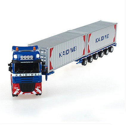 Cadeve Alloy Freight Truck Model 1: 50 Heavy Duty Freight Truck Container Truck Platform Trolley Engineering Vehicle Toy