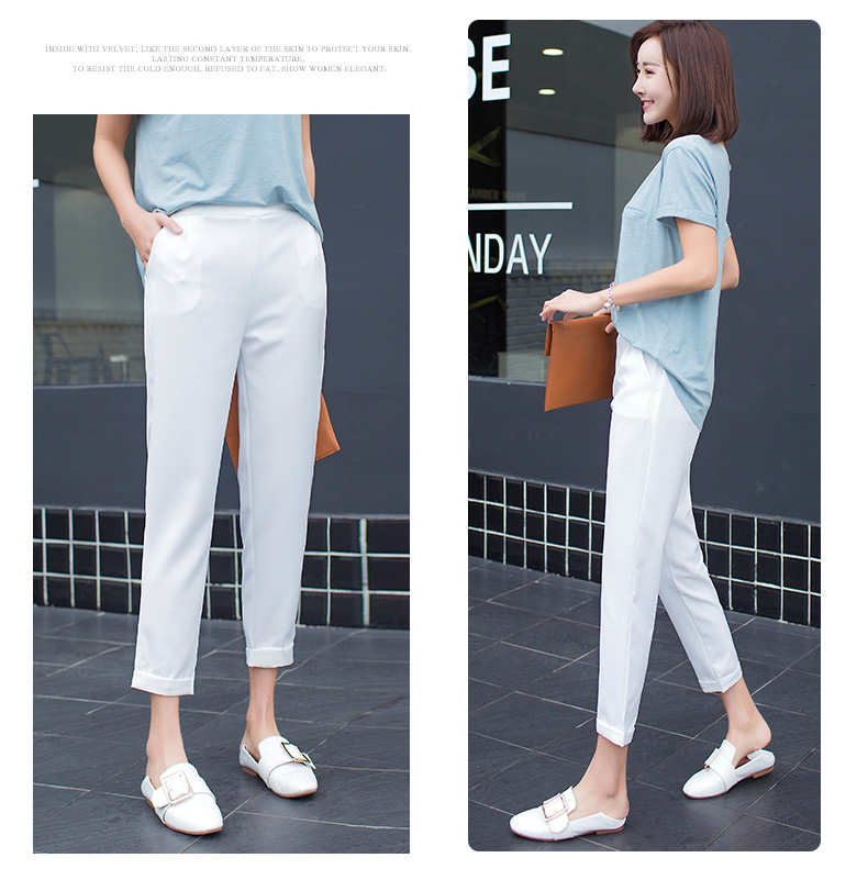 H2b3c5a58168c4018802b5707d7b0622fP - New Plus Size Women High Waist Pants Loose Stretch Harem Pants Female Casual Long Trousers Classic Pleated Pocket Office Pants