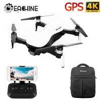 Eachine EX4 5G WIFI 1.2KM FPV GPS avec caméra 4K HD cardan Stable à 3 axes 25 minutes de temps de vol Drone quadrirotor RTF VS X12