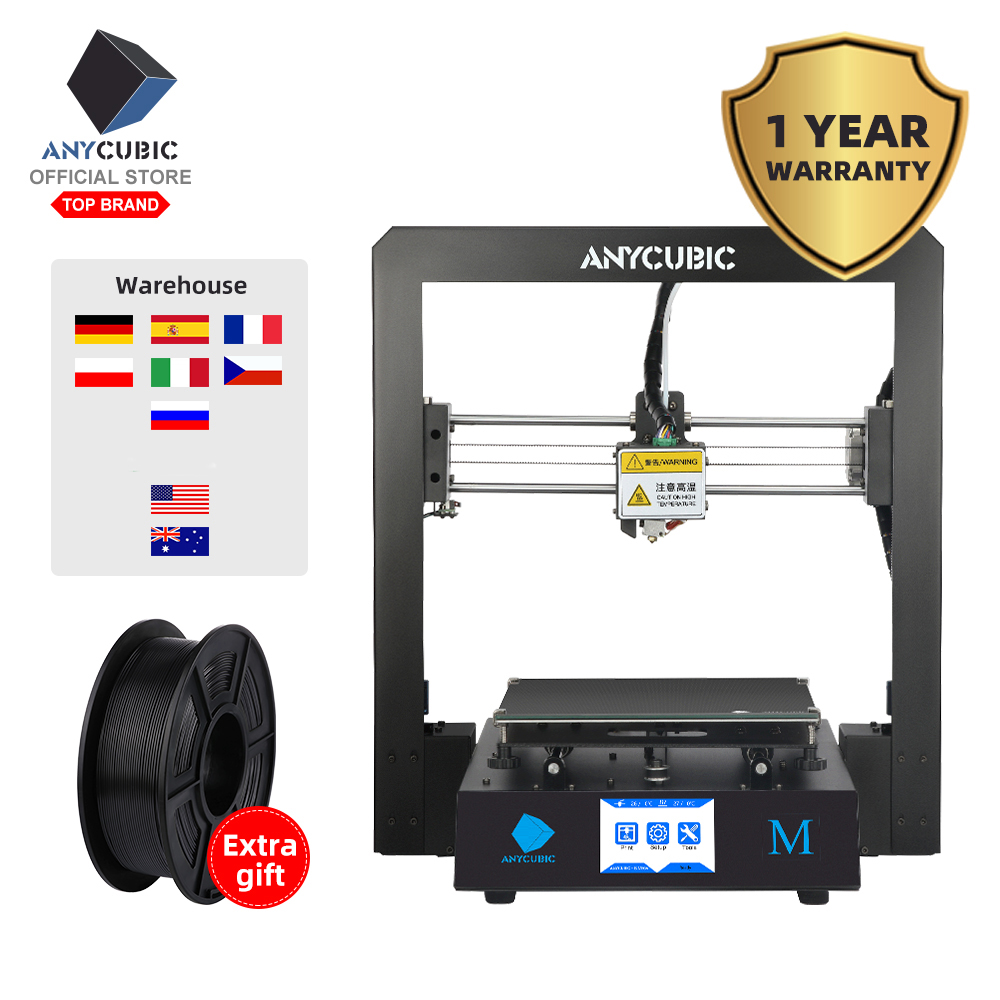 ANYCUBIC 3D Printer I3 Mega Impresora 3D DIY Kit Full Metal Large Printing Size Touch Screen LCD Filament 8G SD Card 3d Drucker-in 3D Printers from Computer & Office
