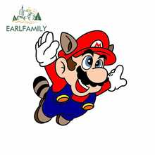 EARLFAMILY 13cm x 12,8 cm für Super Mario Brothers Cartoon Anime Auto Aufkleber Vinyl JDM Stoßstange Stamm Truck Graphics feine Aufkleber