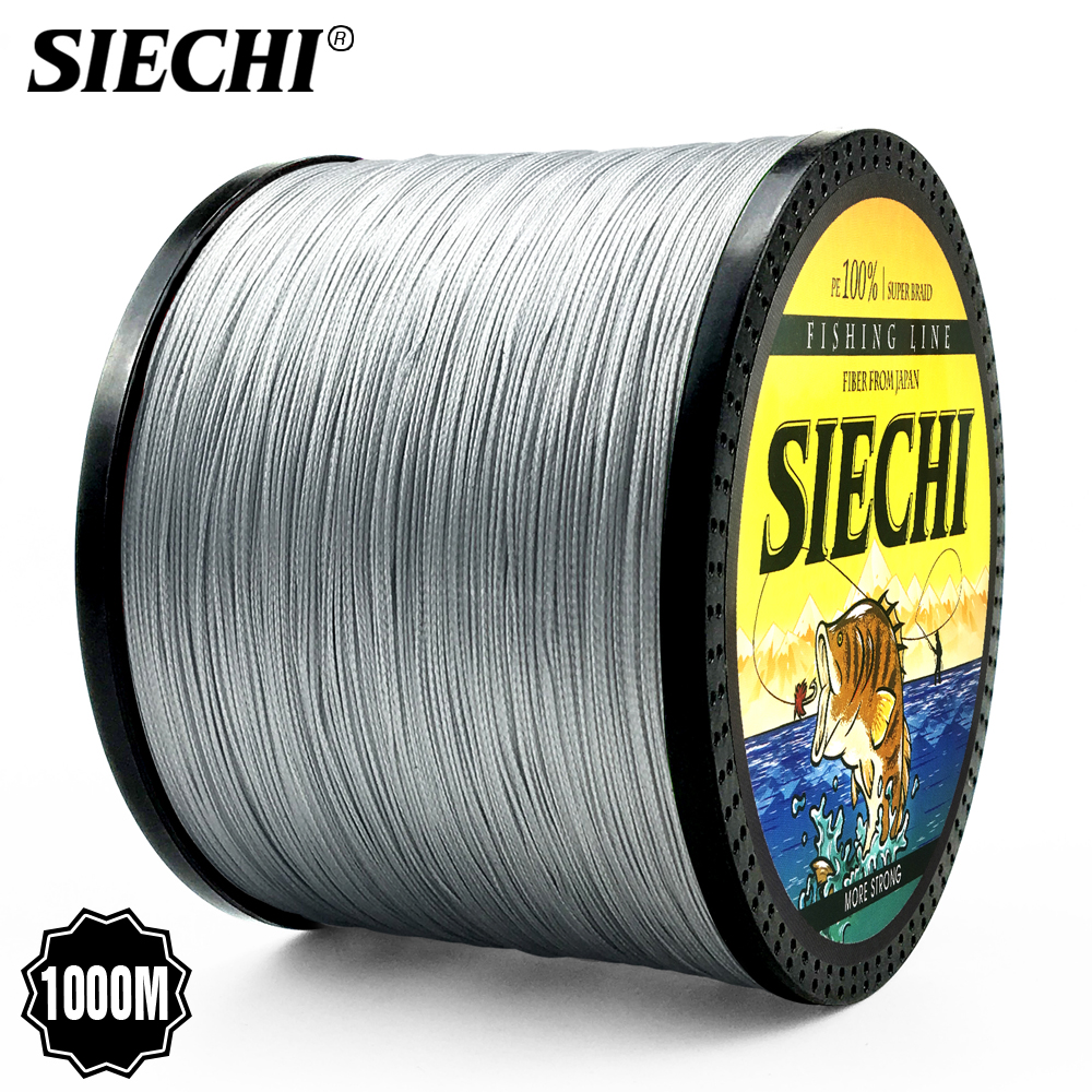 SIECHI 300m 500m 1000m Super Strong Japanese 8 Strands <font><b>4</b></font> Strands 9 colour Multifilament <font><b>PE</b></font> Braided Fishing Line image