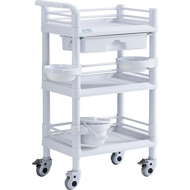 Cosmetology Small Garden Cart Beauty Salon Garden Cart Luggage Carrier Small Bubble Instrument The Shelf Three Layers Hand Push