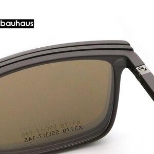 Image 5 - 2+1 lenes Magnet Sunglasses Clip Mirrored Clip on Sunglasses clip on glasses Men Polarized Custom Prescription Myopia x3179