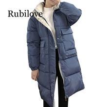 Rubilove Fashion Woman Ladies Coat Long Coats Parka Colour-matched jacket for mid-long women winter thick jacket down jacket