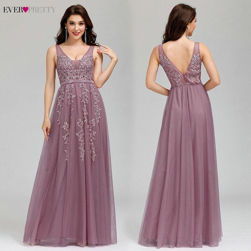 Hot DealsProm-Dresses Tulle Ever Pretty Applique A-Line Vestidos-De-Graduacion Long Elegant Hot-Selling