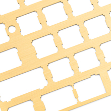Brass Plate for Mechanical Keyboard with oxidation resistant coating brushed tech xd60 xd64 xd75 xd84 bm43 xd68 gh60 bm60 iso