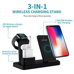 Image 3 - Bezprzewodowa ładowarka Qi uchwyt do telefonu iphone Samsung szybkie bezprzewodowe ładowanie do airpods do apple watch 4 3 2 1 ładowarka