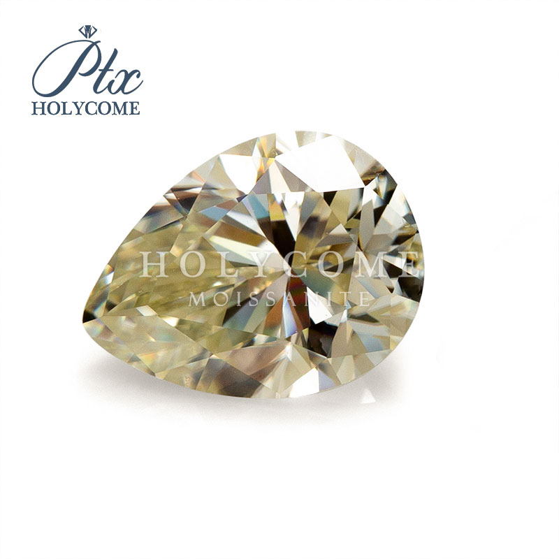 8x12mm pear cut yellow moissanite gemstone 2020news accept customized wholwsale top quality for jewlery making free carving