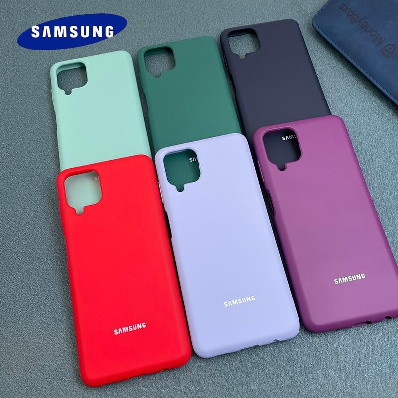 Чехол для Samsung Galaxy A12 M12, 6,5 дюйма, мягкий силиконовый, шелковистый на ощупь, жидкий, ТПУ, защитный чехол без отпечатков пальцев