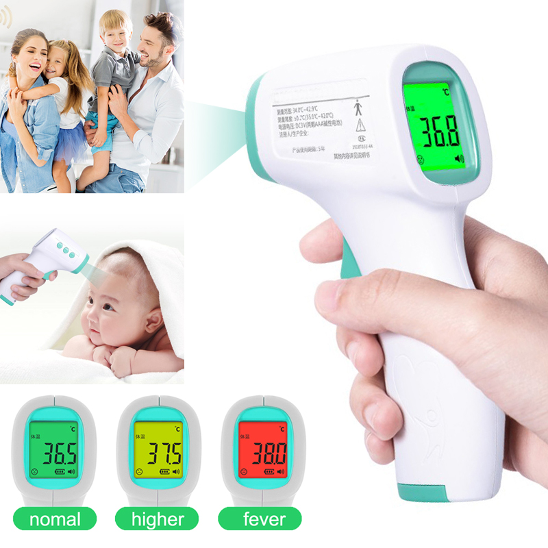 Handheld Infrared Thermometer Forehead Body Temperature Meter Non-contact Measuring Adult Baby Dropship&Wholesale