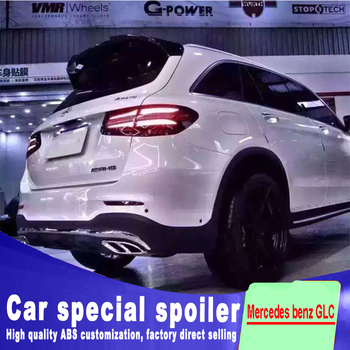 цена на For Mercedes benz GLC X253 GLC260 C43 GLC200 GLC250 GLC300 rear glass wing high quality ABS spoiler by primer or DIY paint
