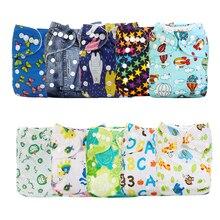 Mumsbest pañal de tela estampado para bebé, 10 unidades por paquete, bolsillo impermeable y lavable, Color aleatorio