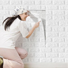 Wallpaper Self-adhesive 3D Wall Sticker Bedroom Warm Background Wall Foam Brick Waterproof Moisture-proof Mould-proof Sticker