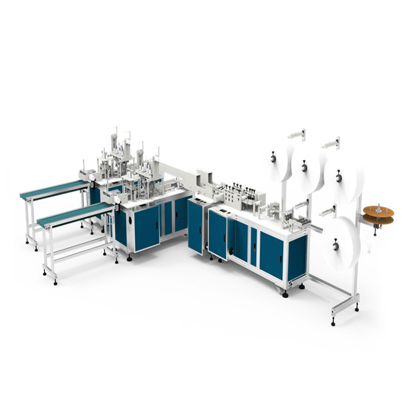 Automatic Face Mask Making Machine Dispable Facem Mask Production Line
