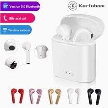 I7s tws bezprzewodowe słuchawki bezprzewodowe słuchawki Bluetooth sportowe słuchawki douszne jakość dźwięku zestaw słuchawkowy dla Iphone Xiaomi Redmi Huawei