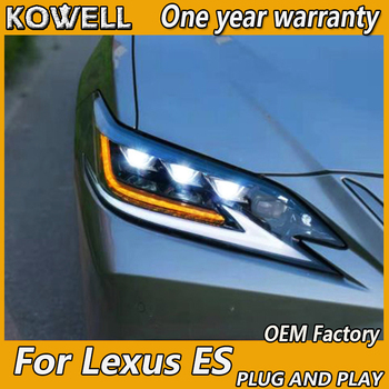 KOWELL Car Styling  For Lexus ES 2018-2019 Led headlight For Lexus ES all led headlight dyanmic turn signal