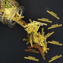 Confettis Joyeux Anniversaire, 15g, décoration de fête, fournitures de confettis à paillettes