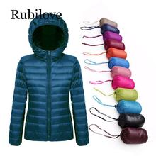 Rubilove Plus Size 5XL 6XL 7XL Winter Down Jacket Women Eiderdown Outwear Warm Coat Ultralight White Duck Femal