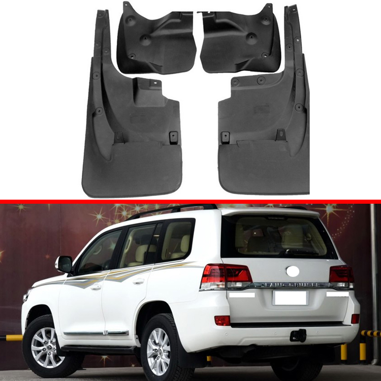 For Toyota Land Cruiser LC200 2008 2018 Mud Flaps Splash Guard Mudguards Fender 4PCS/Set 2010 2012 2013 2015 2017|Mudguards| |  - title=