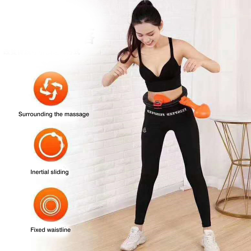 Women Sport Fitness Hoop Loop Girl Abdomen Waist Exercise Workout Weight Loss Circle Sports Supply Detachable Sports Supply