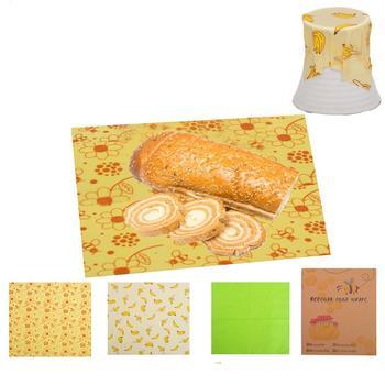 3 szt Rzeźnik papierowy tkanina z nadrukiem wielokrotnego użytku wosk pszczeli konserwacja tkaniny kawiarnia kuchnia domowe jedzenie okłady konserwujące tkaniny tanie i dobre opinie CN (pochodzenie) Food Wraps Preservative Cloth