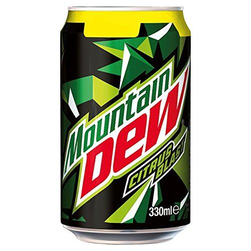 Mountain Dew Citrus Explosion 330ml (Pack Of 24 x 330ml)