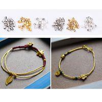 2340Pcs 3 Color Tube Crimp Beads Tube Cover Bracelet Cord End Cap Jewelry Making