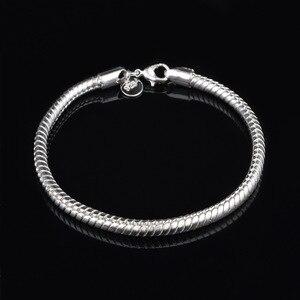 Pulseira de ossos de cobra, venda quente, cor prata, pulseira para mulheres