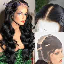 HD прозрачные полностью кружевные человеческие волосы парики с детскими волосами объемные волнистые парики прозрачные кружевные парики для женщин черные бразильские волосы Remy