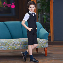 Suit Vest Outfit Trousers Shirt Wear-Tie Toddler Formal Baby Boys Kids Children's