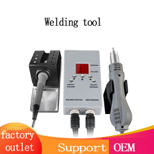 8878d Digital Display Mini Convenient Mobile Phone Maintenance Tool Two In One Hot Air Gun Disassembly and Welding Platform