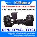 Для Dell ALIENWARE 51M AREA-51M 2060 2070 обновление высокой мощности RTX 2080 новый оригинальный Охлаждающий радиатор вентилятор в сборе 0FY4CJ FY4CJ