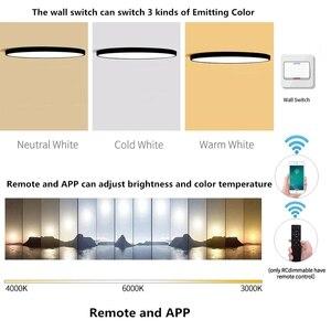 Image 3 - Creativo ultra sottile 5cm Macaron colore LED plafoniera moderna rotonda telecomando lampada camera da letto Foyer Hotel lampada a montaggio superficiale