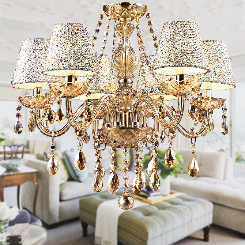 2019 Hot Lustre Para Sala Luxurious European Style Chandelier 6 Arms Diameter 58cm Living Room Luxury Lamp Lustre Para Quarto