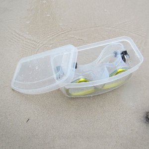Heavy Duty Diving Snorkeling Mask Goggles Hard PVC Case Swim Glasses Lenses Storage Box Container