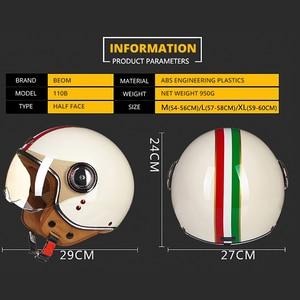 Image 3 - Motorrad Helm Chopper 3/4 Open Gesicht Vintage Moto Helm Moto Casque Casco Capacete Männer Frauen Roller Motorrad Helm