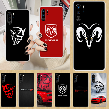 Logo Sport Car brand Dodge Phone Case hull For HUAWEI p 8 9 10 20 30 40 smart Lite 2017 19 Pro Z transparent coque 3D cover image