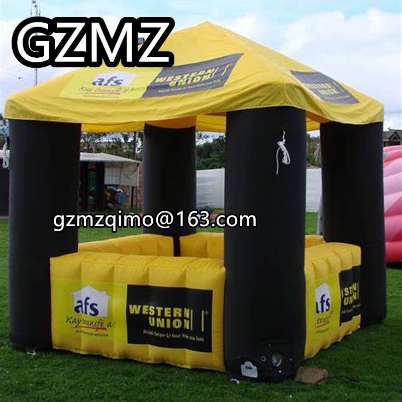 MZQM Customized inflatable food booth stand shop pop up inflatable stall for Chriden'Day decoration